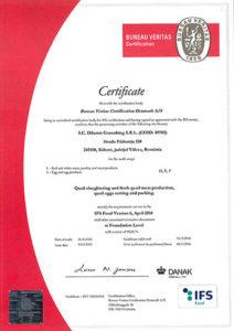 Certificat atestare IFS